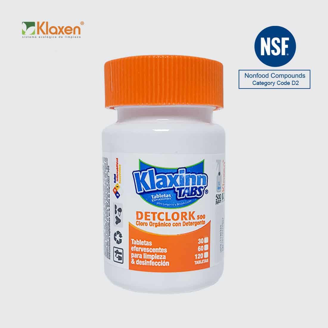 Klaxinn Tabs 500ppm – desinfectante en tabletas de cloro orgánico