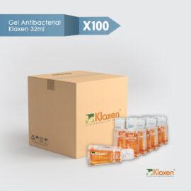 Saniklax – gel antibacterial 70% alcohol – pack 100 unid x 32 ml c/u
