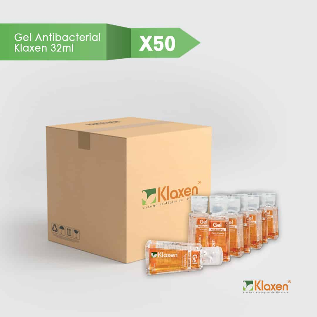 Saniklax: Gel Antibacterial 70% Alcohol – Pack 50 unid x 32 ml c/u