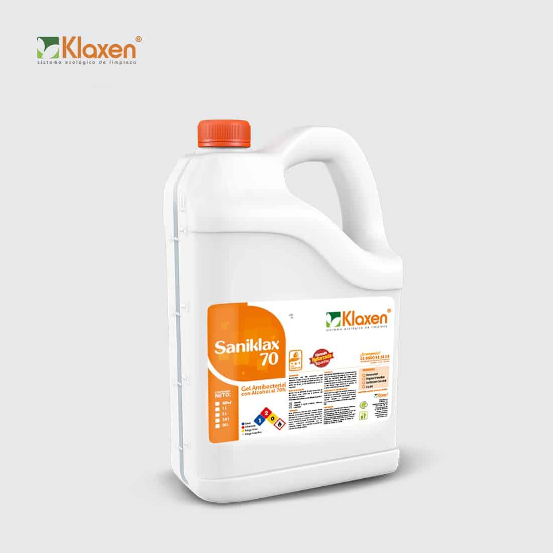 Gel Antibacterial 70% Alcohol Saniklax – 3.8 litros