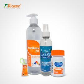 Kit portatil de limpieza y desinfección
